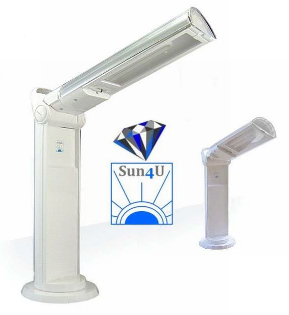 Daglichtlamp Diamond Portable Lamp Sun4U S114100 (wit-zilver)